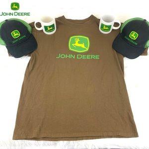 🦌John Deere Bundle 1-Shirt L | 2-Hats | 2-Mugs